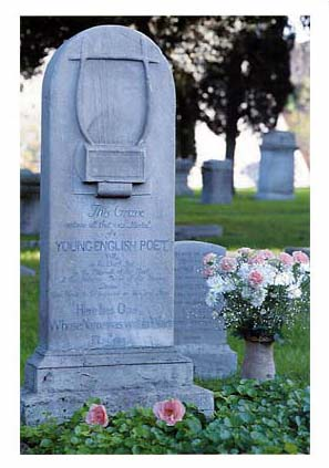 The grave of John Keats