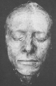 Keats death mask