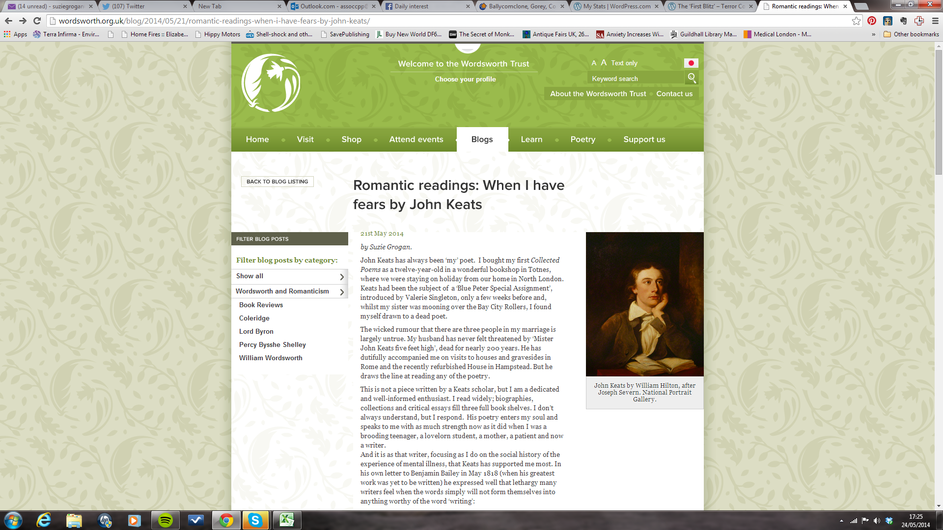 john keats no more wriggling out of writing screenshot 2014 05 24 17 25 36 2