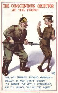 Cartoon mocking the masculinity of a CO