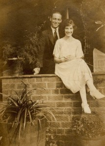 Edward Kensit, at home before the war with his fiancee (Courtesy of Sue Collier Jenkins)