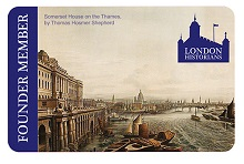 The first London Historians member card. Somerset House.