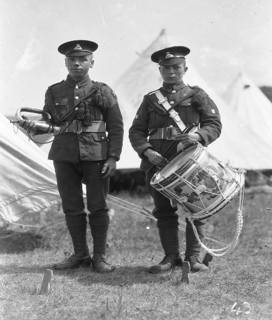 unknown drummer and bugler
